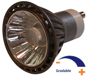 300 lumens, 6,5 WATT, Blanc chaud 2 700 K, Gradable