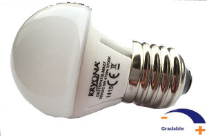 470 lumens, 6 WATT, Blanc chaud 2 700 K, Gradable