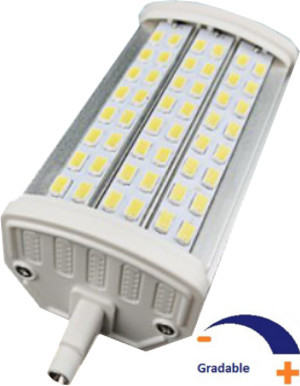 1250 lumens, 14 WATT, Blanc chaud 3000 K, Gradable