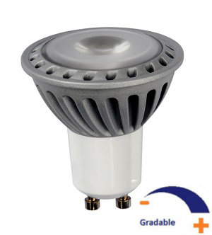 350 lumens, 5 WATT, Blanc chaud 2 700 K, Gradable