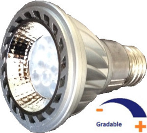 550 lumens, 10 WATT, Blanc chaud 3 000 K, Gradable