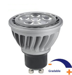 500 lumens, 8 WATT, Blanc chaud 2 700 K, Gradable