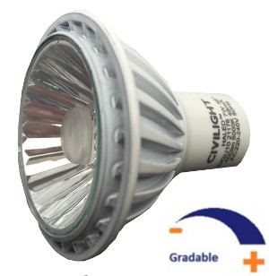 400 lumens, 7 WATT, Blanc pur 5 000 K, Gradable