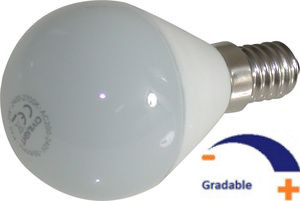 250 lumens, 4W, 230V, Blanc chaud 2 700 K, Gradable